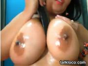 Latina With Great Breasts Masturbates