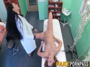 Fantastic looking horny nurse seduces her hot patient girl