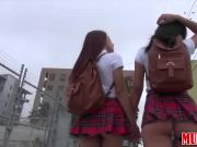 Hot and sexy teens Lilith and Vannessa skips class for lesbian sex