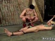 Gay muscle bondage and rimming Pegged And Face Fucked!