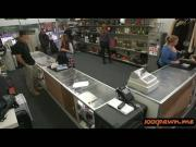 Geeky student banged good in a pawnshop