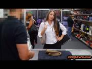 Nice ass slut with big tits banged in the pawn shop by the owner
