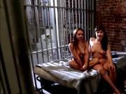 Tattooed hottie seduces redhead beauty in the prison