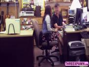 Fucking innocent lovely brunette in the pawnshop for some cash