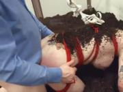 Extreme BDSM chocolatehole action in gangbang