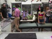 Amateur Asian petite teen gives a soothing hot free massage in the pawnshop