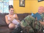 Tight cheerleader tranny fucked military