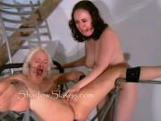 Bizarre prison camp pussy shaving of Little Miss Chaos