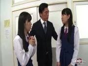 Sizzlin hot Japanese sex orgy inside the classroom