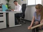 Horny office babe Tia gets to fuck with her coworker