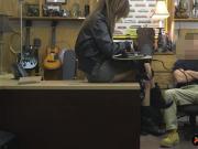 Brunette babe banged at the pawnshop