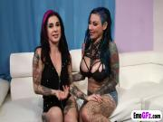 Emo Gf Joanna Angel fucks big stacked tattooed hottie