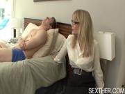 Older Lady Nina Hartley Sucks Cock and Banged Hard