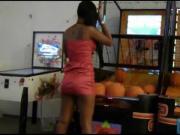 Thai hooker playing balls