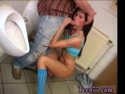 Classic porn first time Debbie porked in public toilet