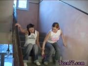 Exciting sex first time Young lezzies pulverizing in a hallway