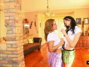 Anna King and Valentina Blue in private's casting couch
