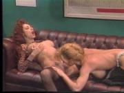Redhead lady boss calls blonde secretary to her office for some pussy licking