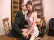 Lovely coed loves the taste of her teacher's dick