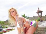 Slutty milf Ryan gets her juicy pussy slammed hard by Lex
