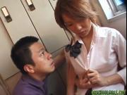 Kaori hot Asian babe enjoys large vibrator in hot pussy