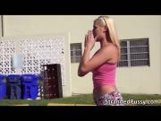 Slutty blonde babe Destiny gets rammed by a big dick