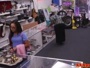 Finelooking pawnshop babe secretly filmed