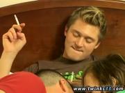 Tranny gay twink movietures Devon & Ayden Smokin' trio Way!