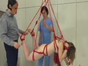BDSM hardcore action with ropes and sweet sex
