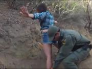 Mexican BP agent fucked adorable amateur babe for sneaking