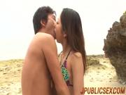 Porn story at the beach for insolent Yui