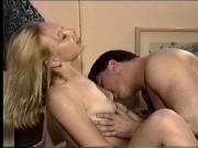 Boss fucks his young blonde secretary doggy style in her perfect young pussy