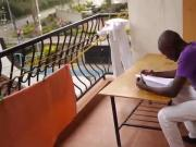 Black African Twink Kalem Jerks Off