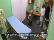 Euro patient sucking cock of doctor