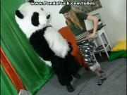 Costume party with teen girl turned to strap on fuck