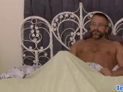 Handsome mature analfucked while jerked off