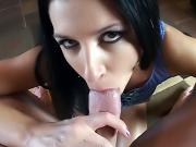 Dude with thick cock likes to fill slut's mouth