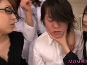Japanese milfs cum splattered