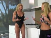 Brandi Love and Cali Sparks twat licking