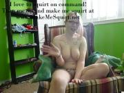 My first time on cam squirting while playing with my toy
