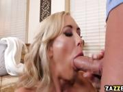 Brandi needs fresh young cock to suck to keep her company