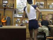 Small tits blond babe boned by pawn man at the pawnshop