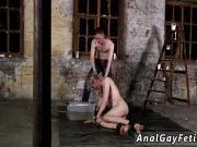 Gay tube porn male boy bondage His shaft is encaged and