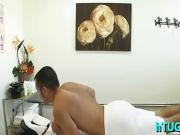 Crazy fuck on a massage table