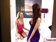 Blonde Tiffany pleasing her horny sugarmom