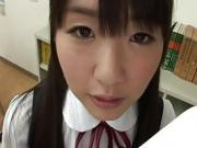Asian babe Tsubomi loves giving a blowjob to her bf