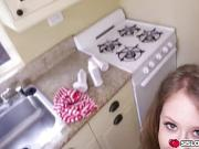 Brooke Bliss make up blowjob to step bro