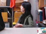 Young shoplyfter must suck a dick
