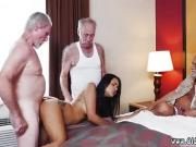 Old ebony milf first time Staycation with a Latin Hottie