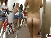 Pledges naked biking and diking out for the sorority